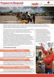 Training Programme 2012 - Österreichisches Rotes Kreuz