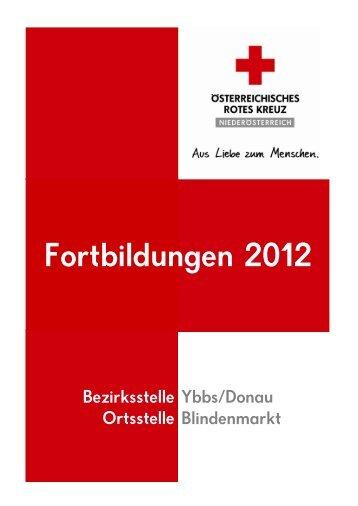 Fortbildungen 2012 - Österreichisches Rotes Kreuz