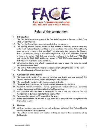 Rules of the competition - Österreichisches Rotes Kreuz