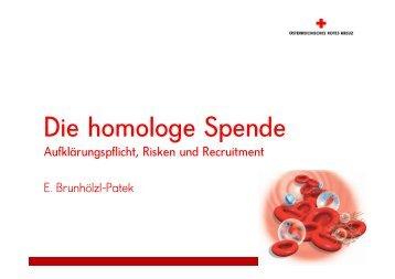 Vortrag: Spenderrisken - Dr. E. Brunhözl - Österreichisches Rotes ...