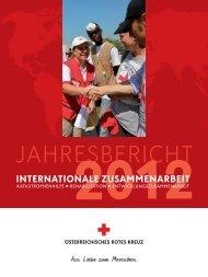 Jahresbericht Internationale Zusammenarbeit 2012