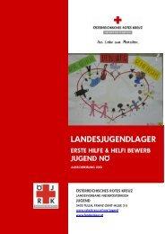 Ausschreibung Landesjugendlager - Österreichisches Rotes Kreuz