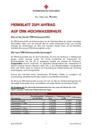 merkblatt zum antrag auf örk-hochwasserhilfe - Österreichisches ...