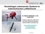 Die Präsentation von Dr. Siegmar Stadelmaier - Österreichisches ...
