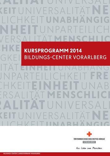 Kursprogramm 2014.pdf - Österreichisches Rotes Kreuz