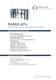 PiXDRO JETx - Roth & Rau AG