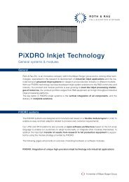 PiXDRO Inkjet Technology - Roth & Rau AG