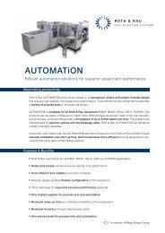 AUTOMATiON - Roth & Rau AG