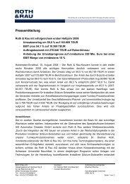 Pressemitteilung - Roth & Rau AG