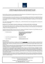 hinweise zur vollmachts- und weisungserteilung - Roth & Rau AG