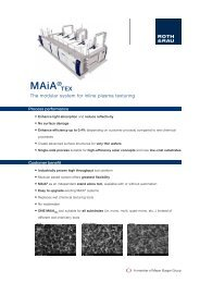 Inline Plasma-Texturing with MAiA-System - Roth & Rau AG