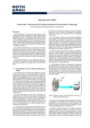 Application Note 01/2007 IonScan 800 – Ultra ... - Roth & Rau AG