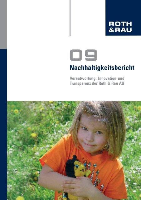 Nachhaltigkeitsbericht 2009 - Roth & Rau AG