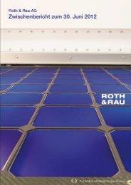 Halbjahresbericht 2012 - Roth & Rau AG