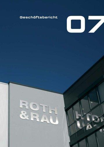 Geschäftsbericht 2007 - Roth & Rau AG
