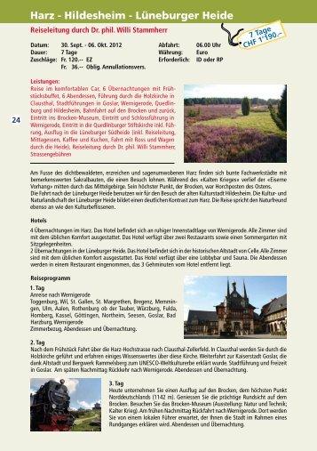 Harz - Hildesheim - Lüneburger Heide - Roth-Reisen