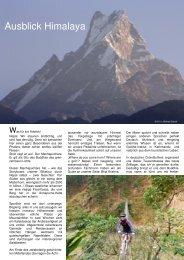 Ausblick Himalaya - Chiemgau Biking