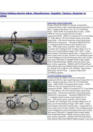 Ebco Ulc Ucr Range Technical Manual Pdf Electric Bikes