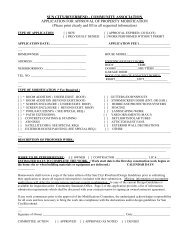 Application For Approval of Property Modification