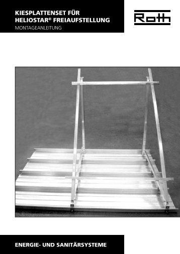 Solar Heliostar Freiaufstellung Kiesplattenset - Roth Werke