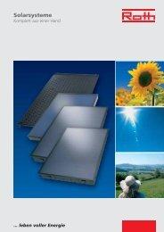 Solarsysteme - Roth Werke