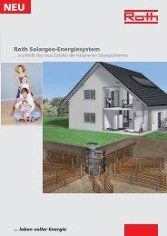 Prospekt Solargeo-Energiesystem - Roth Werke