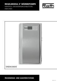 Wärmepumpe Regelmodul - Endkunde - Roth Werke