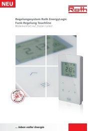 Prospekt Regelungssystem EnergyLogic - Roth Werke