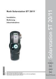 Solarstation ST 20/11 - Roth Werke