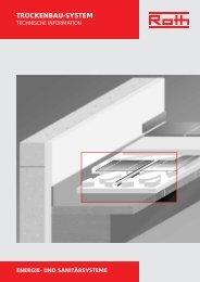 Technische Information Trockenbau-System TBS - Roth Werke