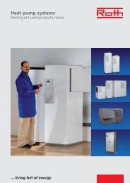 Brochure heat pump systems - Roth Werke