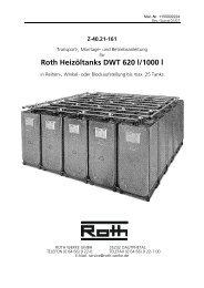 Roth Heizöltanks DWT 620 l/1000 l - Roth Werke