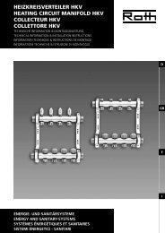 Heizkreisverteiler Hkv Heating circuit manifold Hkv ... - Roth Werke