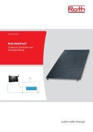 TI Schwimmbadabsorber HelioPool (PDF, 4.01 MB) - Roth Werke