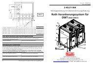 MA DWT Verankerungssystem - Roth