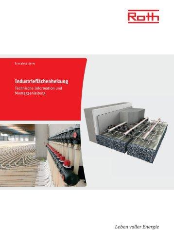 Technische Information Roth Industrieflächenheizung - Roth Werke
