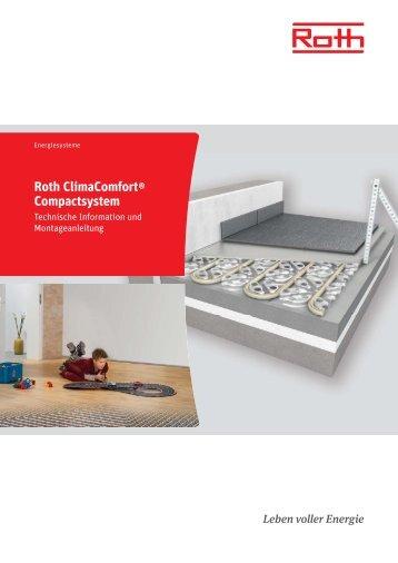 Technische Information Roth ClimaComfort ... - Roth Werke