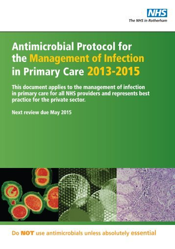 Antimicrobial Protocol for the Management of ... - NHS Rotherham
