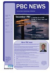 Volume 1, Issue 2 - November 2009 edition - NHS Rotherham