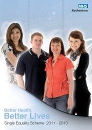 Single Equality Scheme 2012 - NHS Rotherham