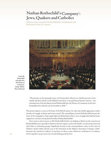 Jews, Quakers and Catholics - The Rothschild Archive.