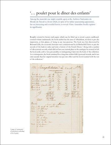 'Poulet pour le diner des enfants': a Rothschild kitchen account book ...