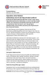 OP ohne Narben - Rotkreuzklinik Wertheim