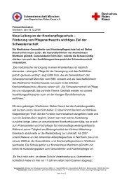 Neue Leitung an der Krankenpflegeschule - Rotkreuzklinikum ...