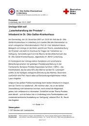 Urologe klärt auf - Rotkreuzklinik Wertheim
