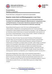 Rotkreuzklinik veranstaltet 6. Bronnbacher Symposium