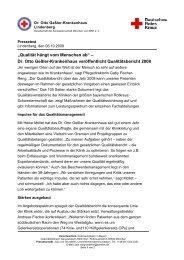 Neuer Qualitätsbericht veröffentlicht - Rotkreuzklinik Wertheim