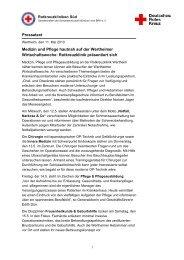 Rotkreuzklinik Wertheim präsentiert sich auf Wertheimer ...