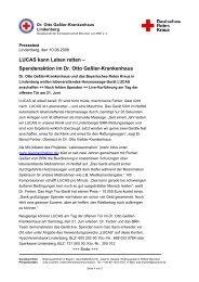 LUCAS kann Leben retten - Rotkreuzklinik Wertheim