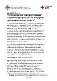 Führungswechsel in der Rotkreuzklinik Würzburg